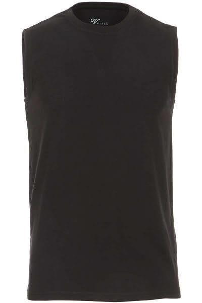 Venti Slim Fit T-Shirt schwarz, Einfarbig