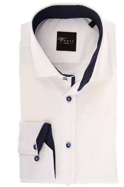 Venti Slim Fit Hemd weiss, Strukturiert
