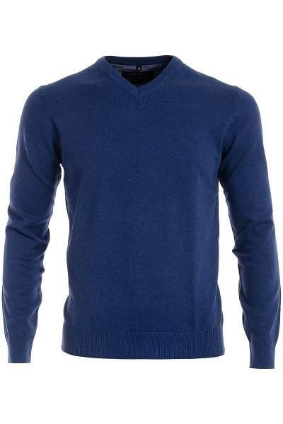 Marvelis Strick - V-Ausschnitt Pullover - blau
