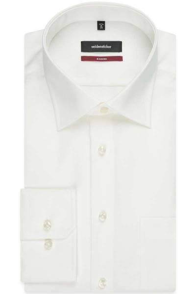 Seidensticker Hemd - Modern Fit - ecru, Einfarbig