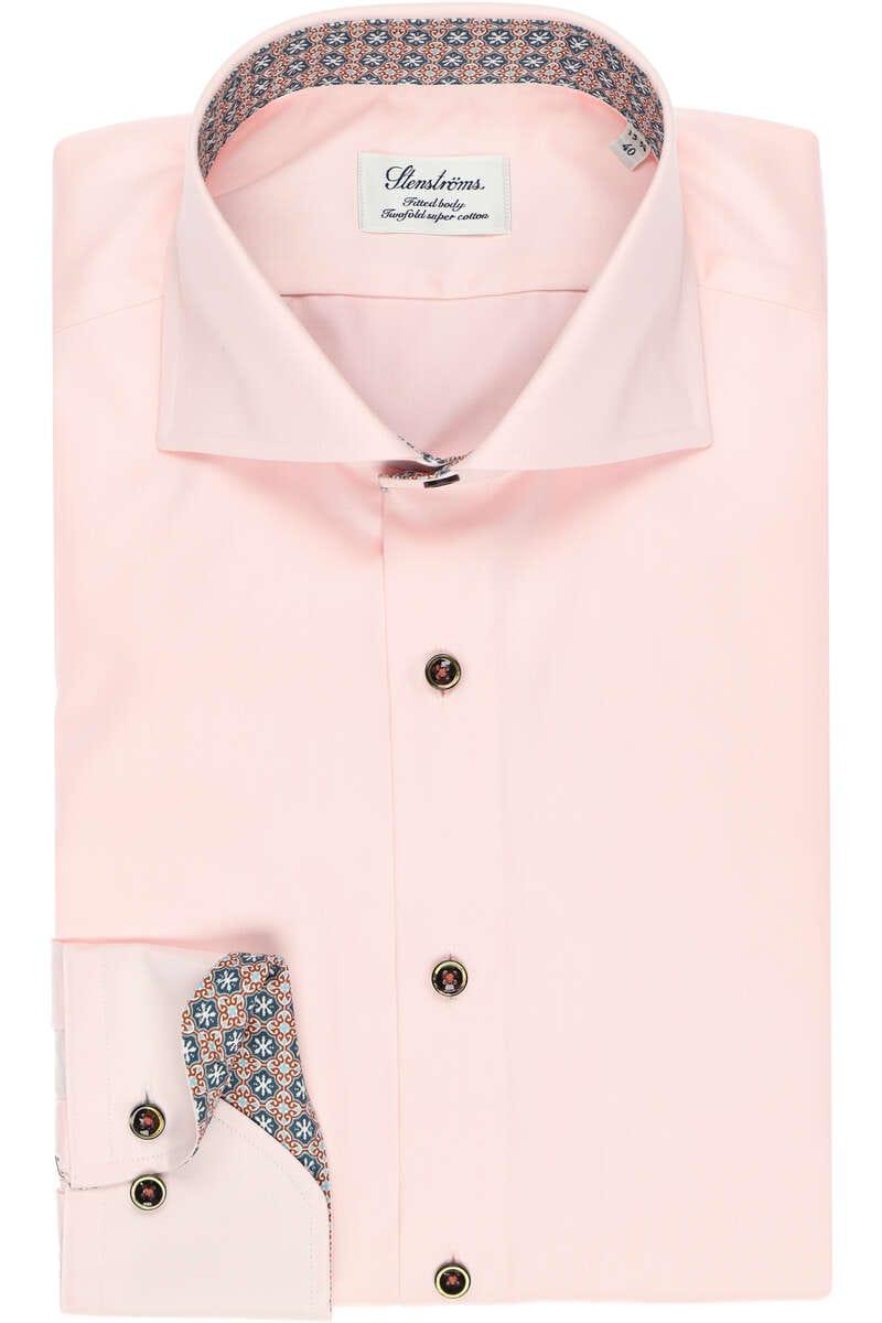 Stenströms Fitted Body Hemd pink, Einfarbig 44 - XL