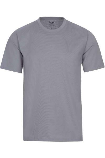 TRIGEMA T-Shirt Rundhals grau, einfarbig