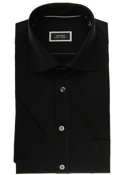 Hatico Hemd - Regular Fit - schwarz,