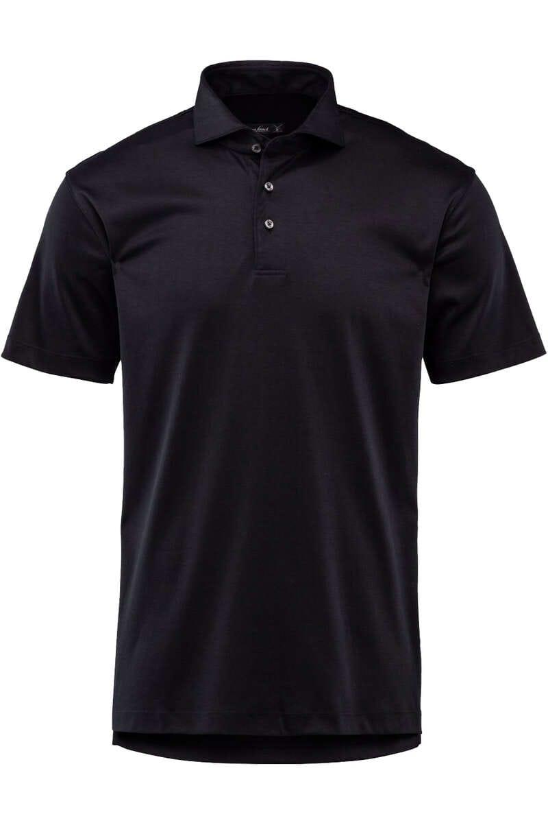 van Laack Tailor Fit Poloshirt schwarz, Einfarbig M