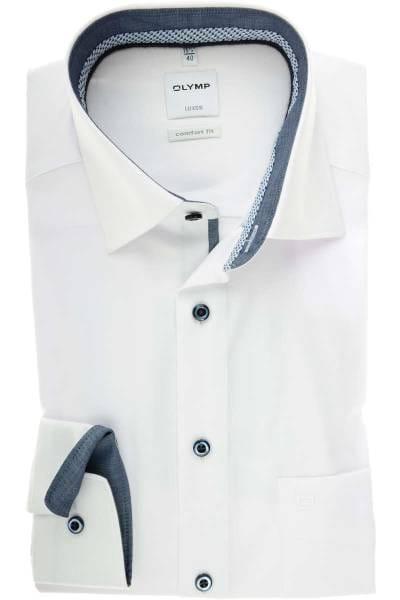 Olymp Luxor Comfort Fit Hemd weiss, Einfarbig