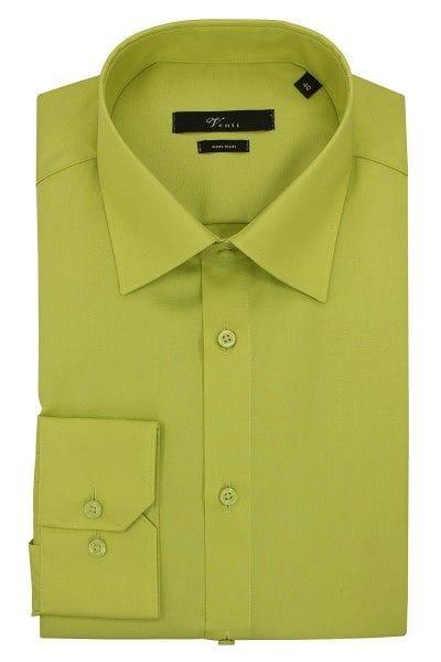 Venti Hemd - Modern Fit - hellgrün, Einfarbig
