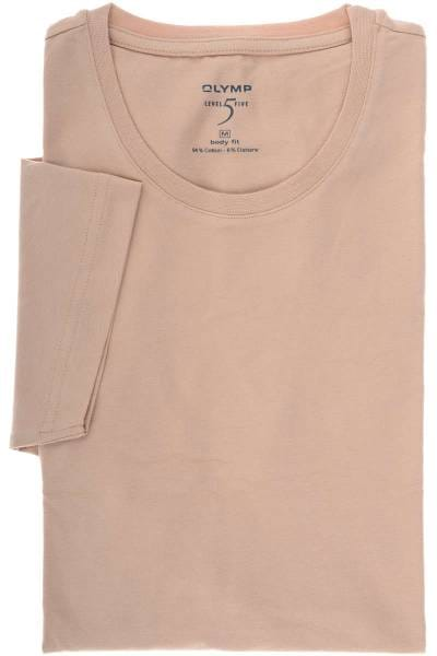 OLYMP Level Five Body Fit Rundhals T-Shirt hautfarben