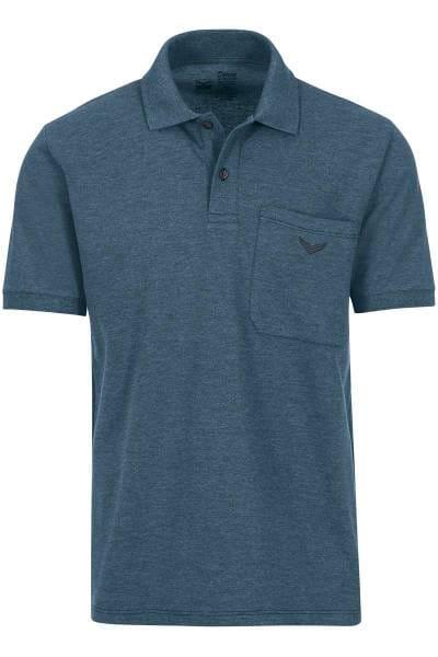 TRIGEMA Comfort Fit Poloshirt jeans, melange