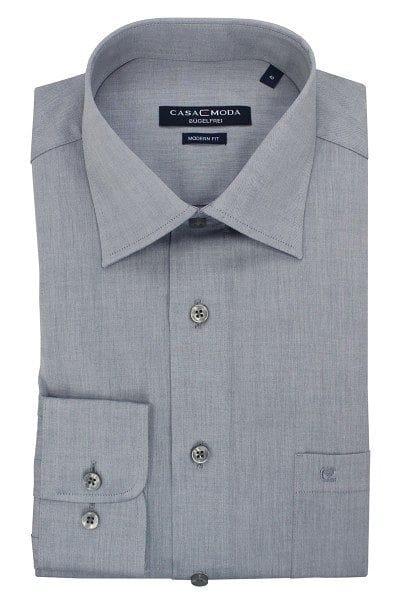 Casa Moda Hemd - Modern Fit - grau, Einfarbig