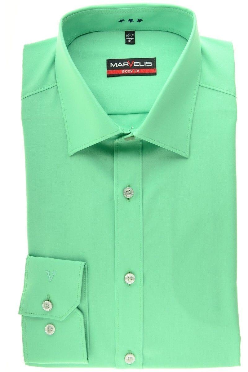 Marvelis Hemd - Body Fit - hellgrün, Einfarbig