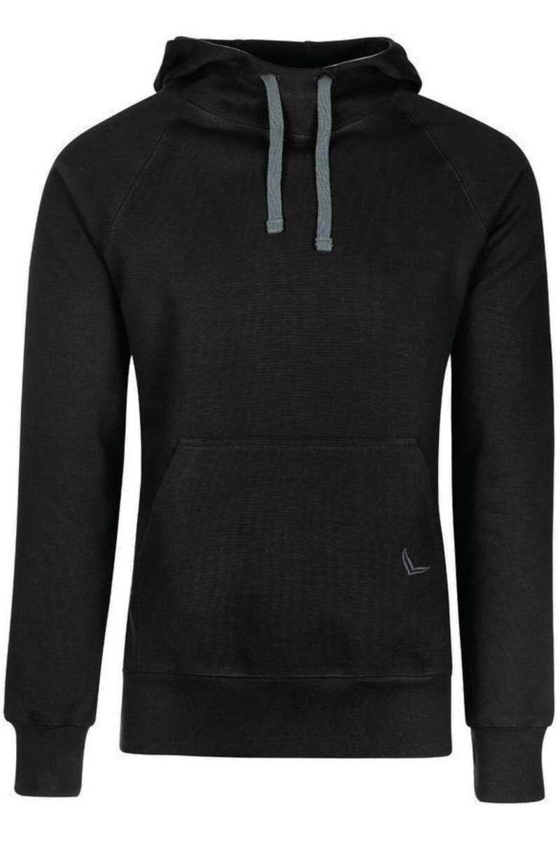 TRIGEMA Comfort Fit Kapuzen Sweatshirt schwarz, einfarbig M