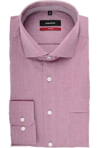 Seidensticker Modern Fit Hemd lila, Einfarbig