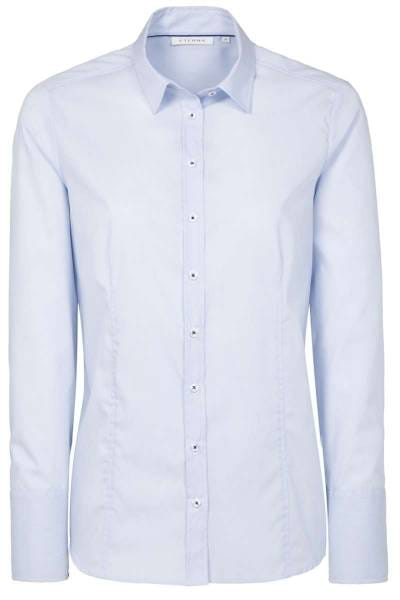 ETERNA Modern Classic Bluse hellblau/weiss, Einfarbig