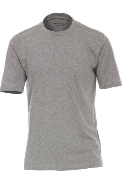 Casa Moda T-Shirt Rundhals grau, einfarbig