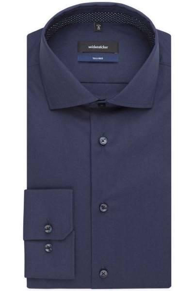 Seidensticker Tailored Hemd nachtblau, Einfarbig