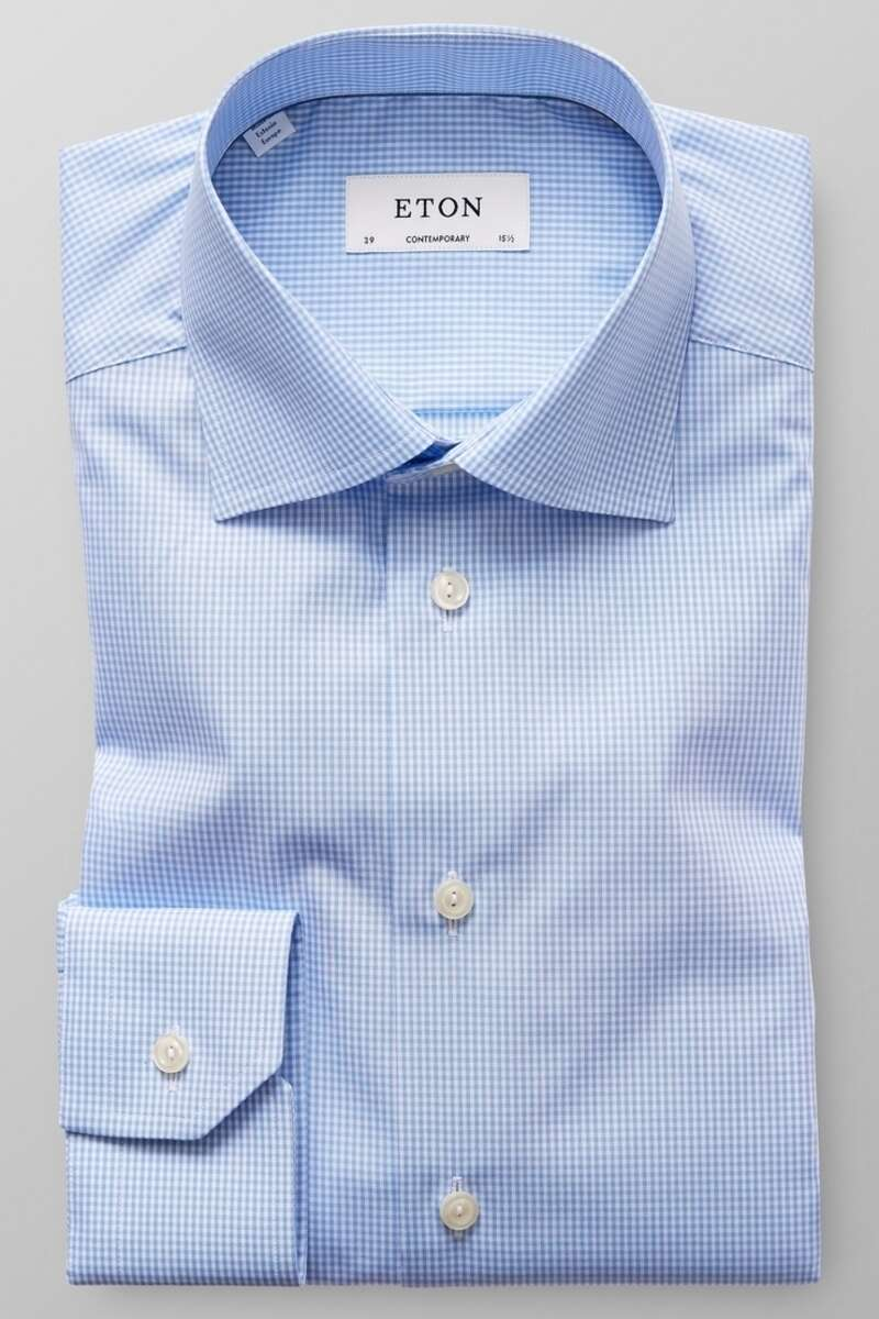 ETON Collection Contemporary Fit Hemd blau, Kariert 37 - S