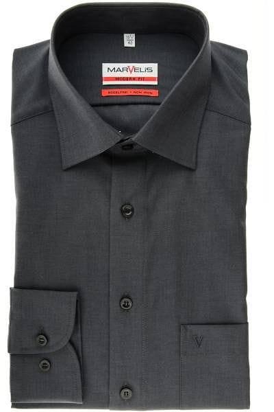 Marvelis Hemd - Modern Fit - anthracite, One Colour