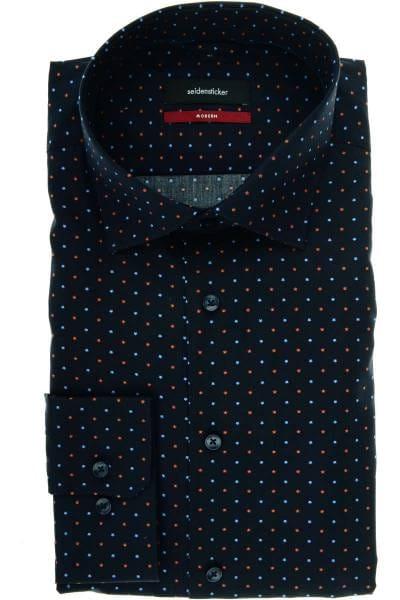 Seidensticker Comfort Fit Hemd rauchblau, Einfarbig