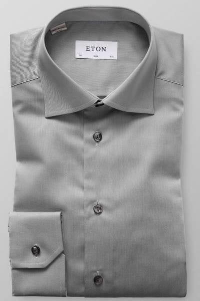 Eton Hemd - Slim Fit - grau, Einfarbig