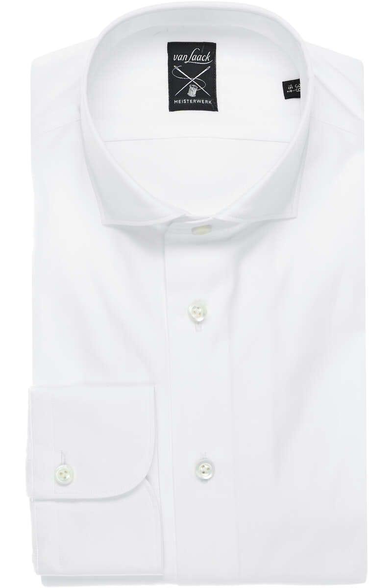 van Laack Hybrid Slim Fit Jerseyhemd weiss, Einfarbig M