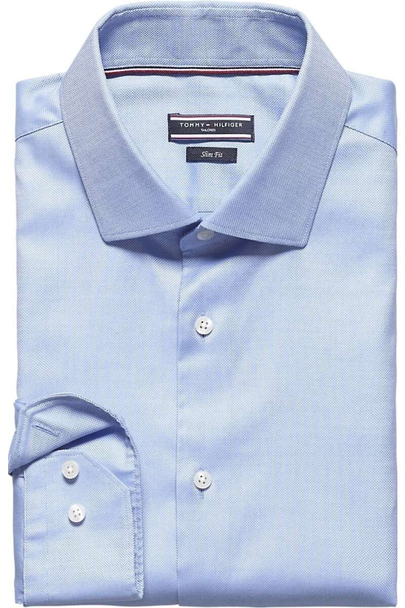 Tommy Hilfiger Tailored Slim Fit Hemd blau, Einfarbig 40 - M