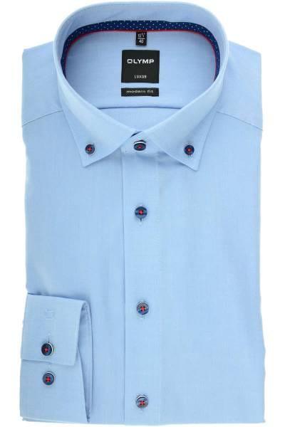 OLYMP Luxor Modern Fit Hemd ozon, Einfarbig