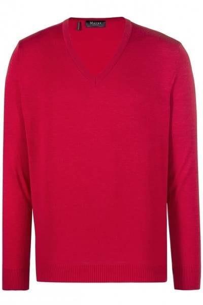 MAERZ Strick - V-Ausschnitt Pullover - rot