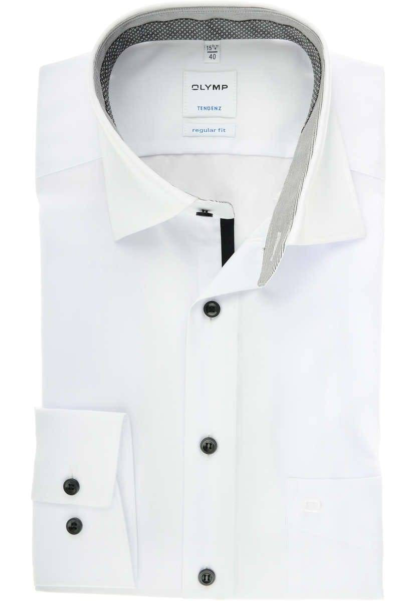 sale usa online quality products performance sportswear Olymp Tendenz Regular Fit shirt white, One Colour