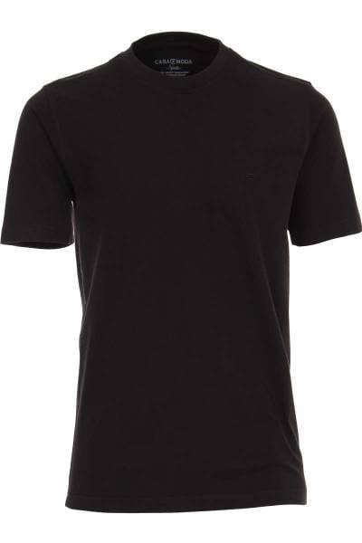 Casa Moda T-Shirt Rundhals schwarz, einfarbig