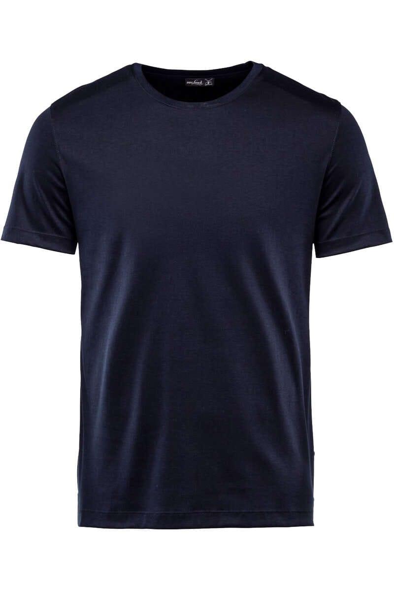 van Laack T-Shirt Rundhals dunkelblau, einfarbig M