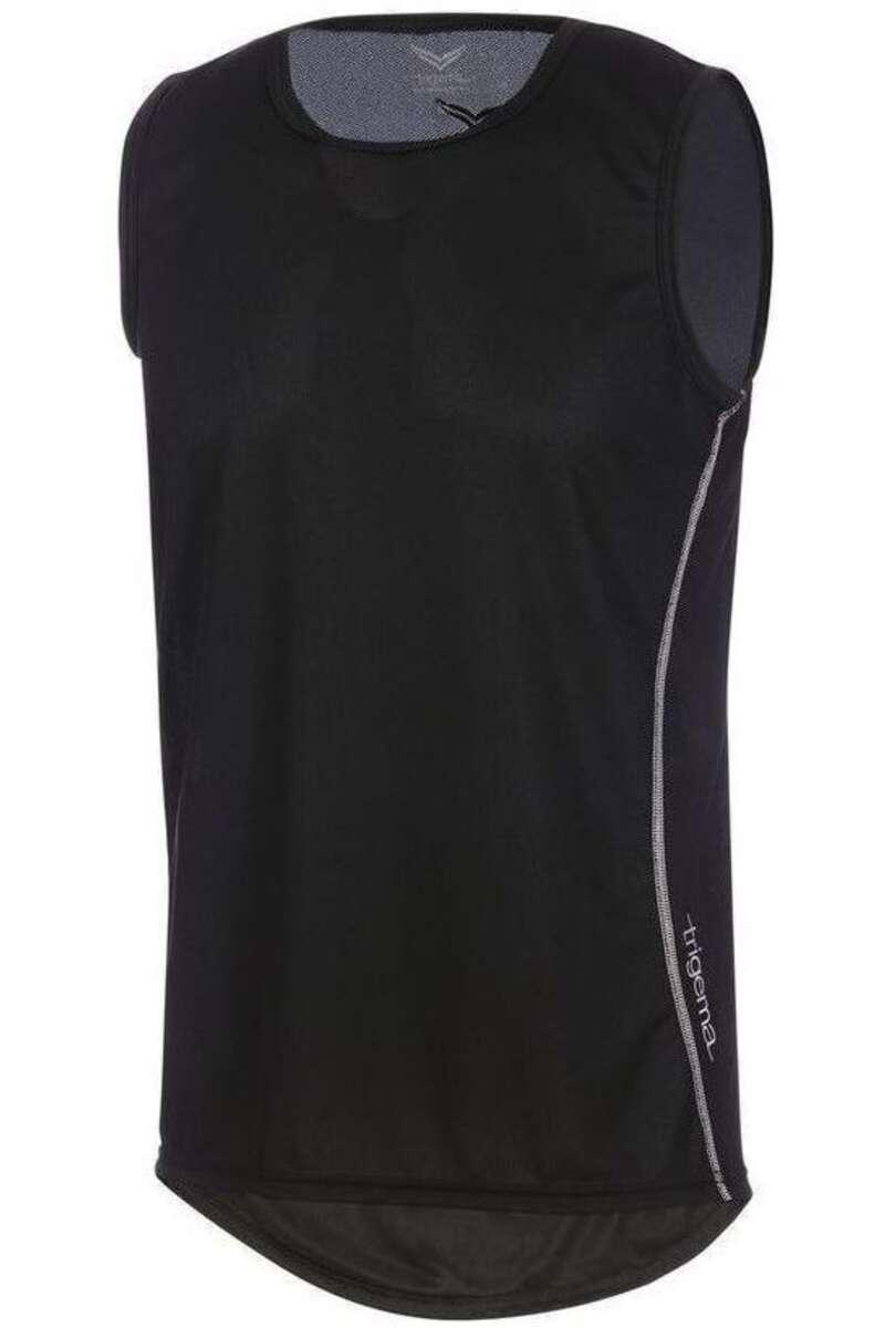 TRIGEMA Comfort Fit T-Shirt Rundhals schwarz, einfarbig M