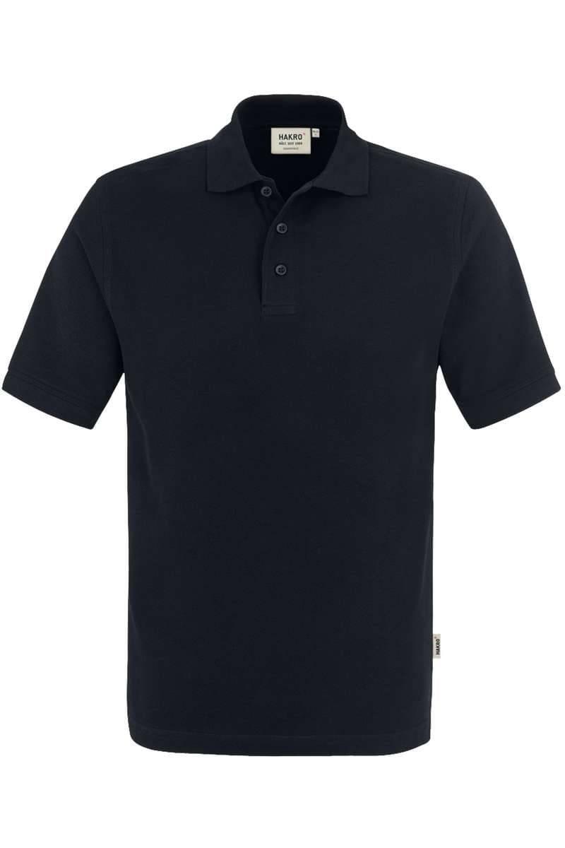 HAKRO Regular Fit Poloshirt schwarz, Einfarbig