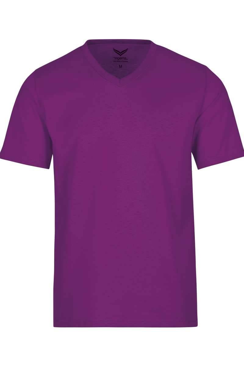 TRIGEMA T-Shirt V-Ausschnitt beere, einfarbig