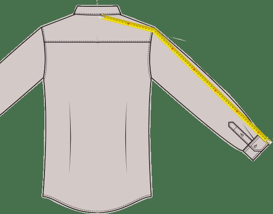 Hemden Armlänge messen
