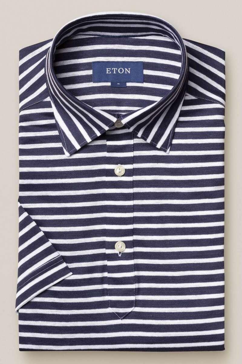 ETON Contemporary Fit Poloshirt blau, Gestreift M