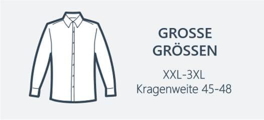 Hemden Übergrößen XXL-3XL