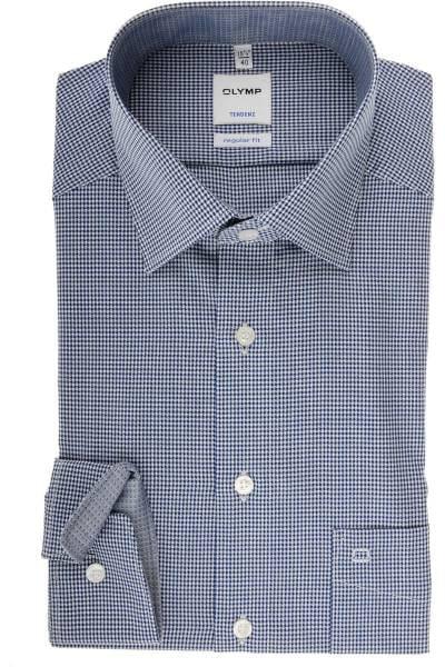 Olymp Tendenz Regular Fit Hemd marine/weiss, Vichykaro