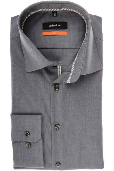 Seidensticker Slim Fit Hemd grau, Strukturiert