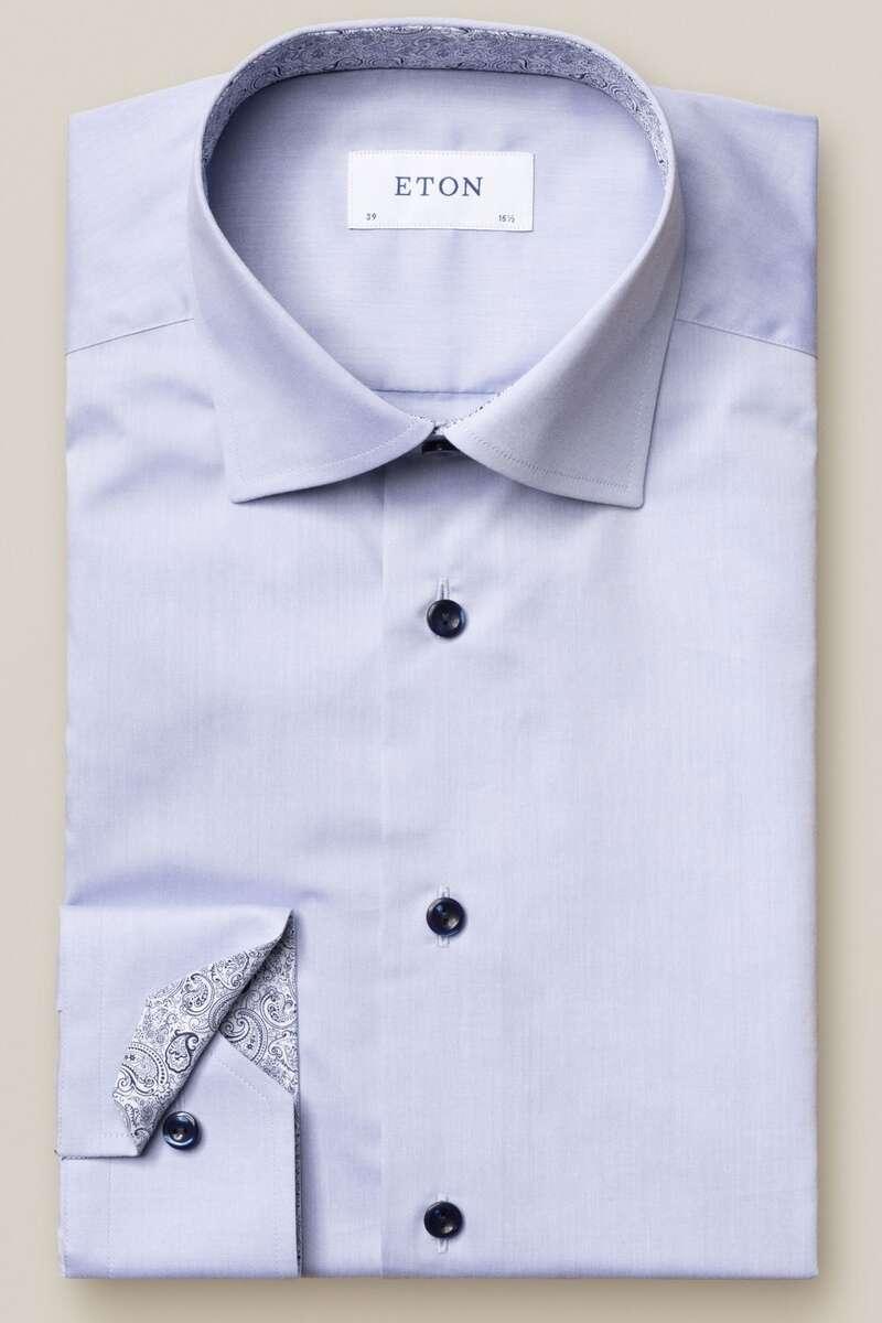ETON Contemporary Fit Hemd blau, Einfarbig 42 - L