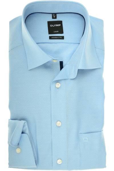 Olymp Luxor Modern Fit Hemd bleu, Gemustert