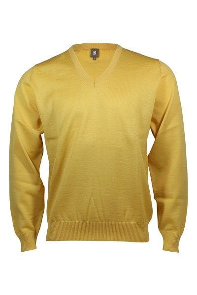 MAERZ Strickpullover V-Ausschnitt Pullover - empire yellow
