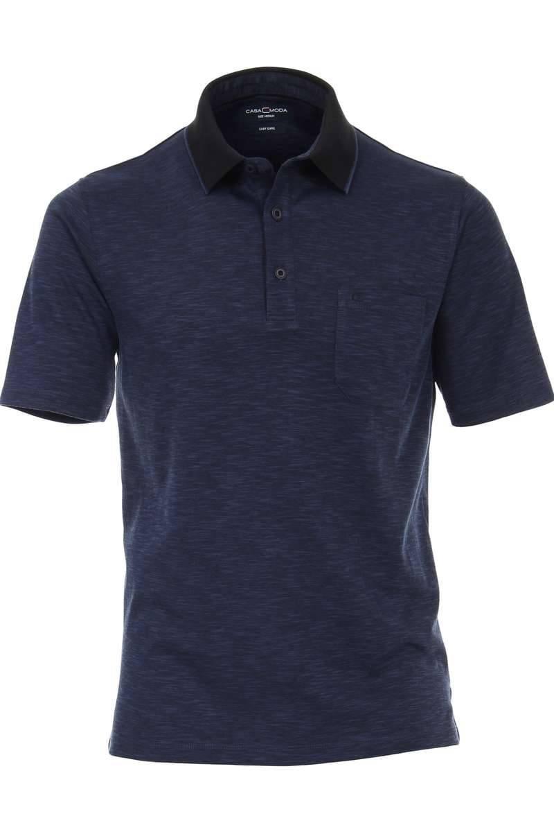 Casa Moda Poloshirt nachtblau, Meliert