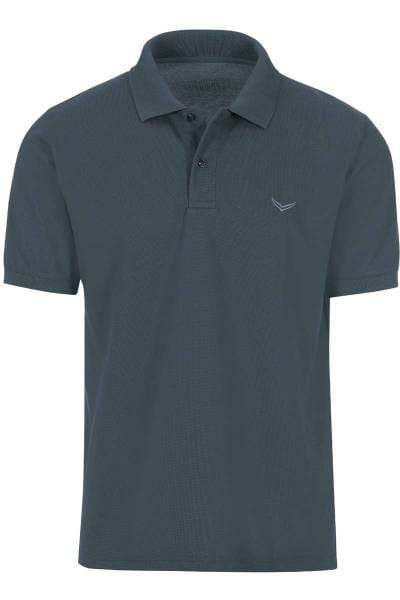 TRIGEMA Comfort Fit Poloshirt anthrazit, Einfarbig