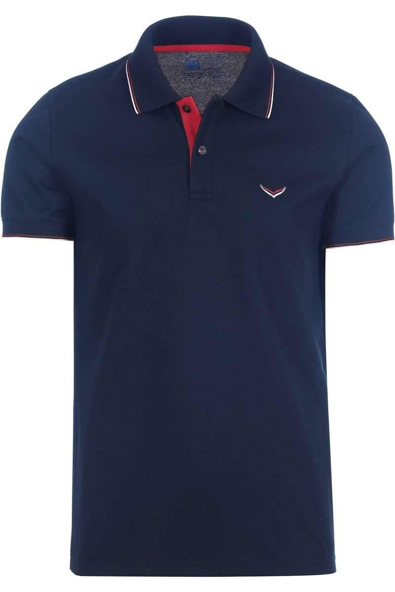 TRIGEMA Slim Fit Poloshirt navy, Einfarbig
