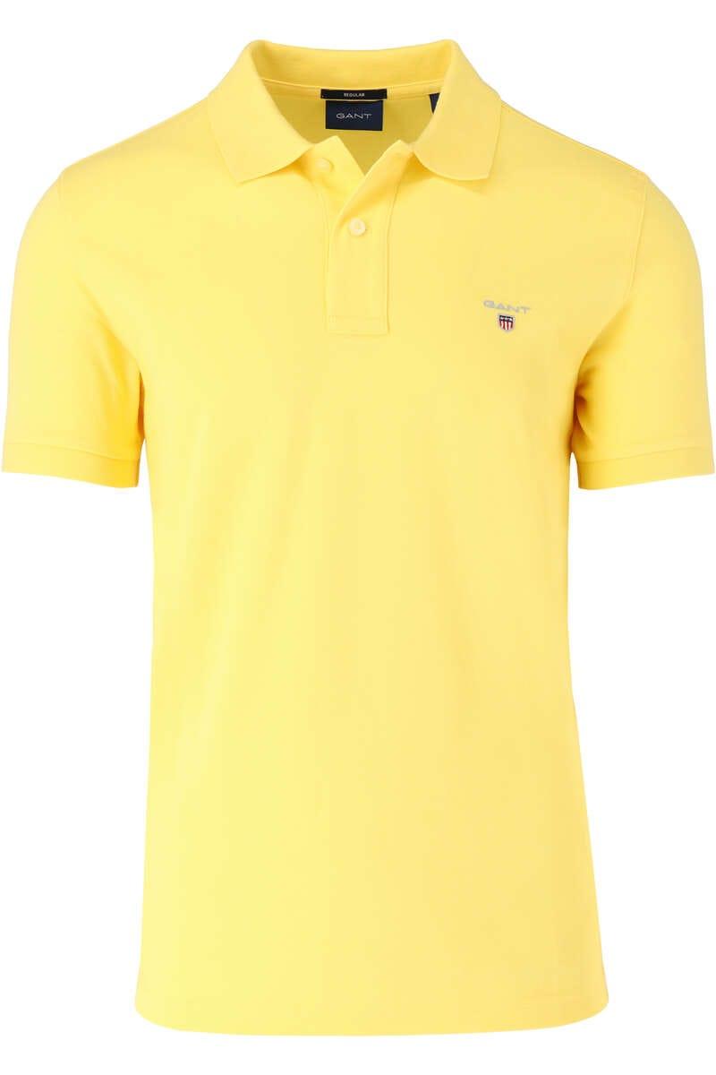 GANT Regular Fit Poloshirt gelb, Einfarbig 3XL