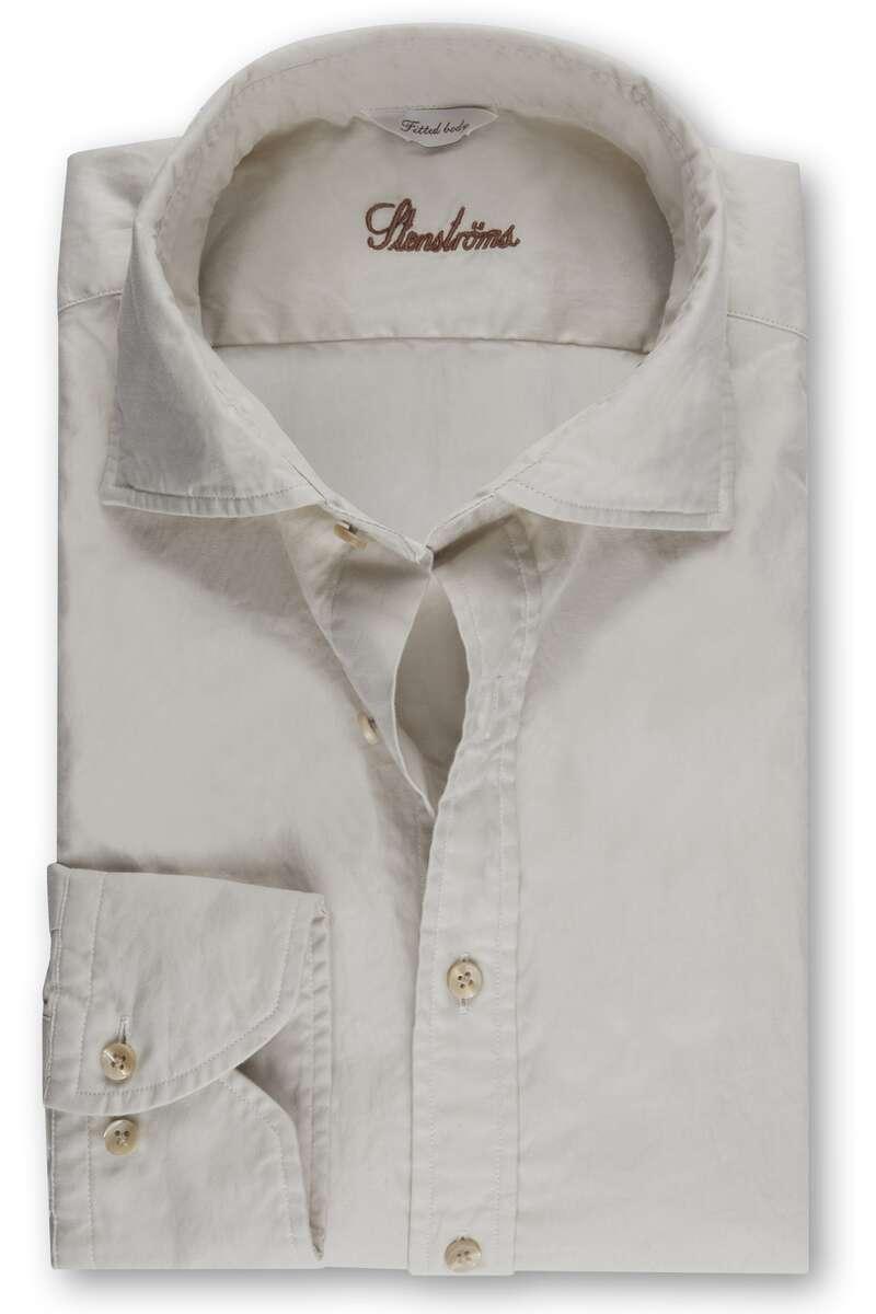 Stenströms Fitted Body Hemd beige, Einfarbig M