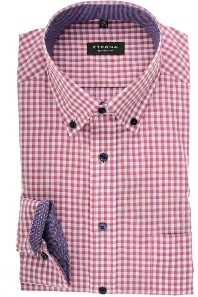 buy popular b4e7d 3a38e ETERNA Comfort Fit Hemd rose, Kariert