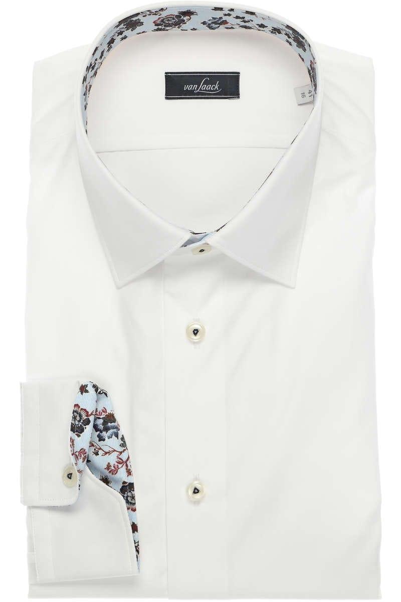 Van Laack Slim Fit Hemd weiss, Einfarbig 40 - M