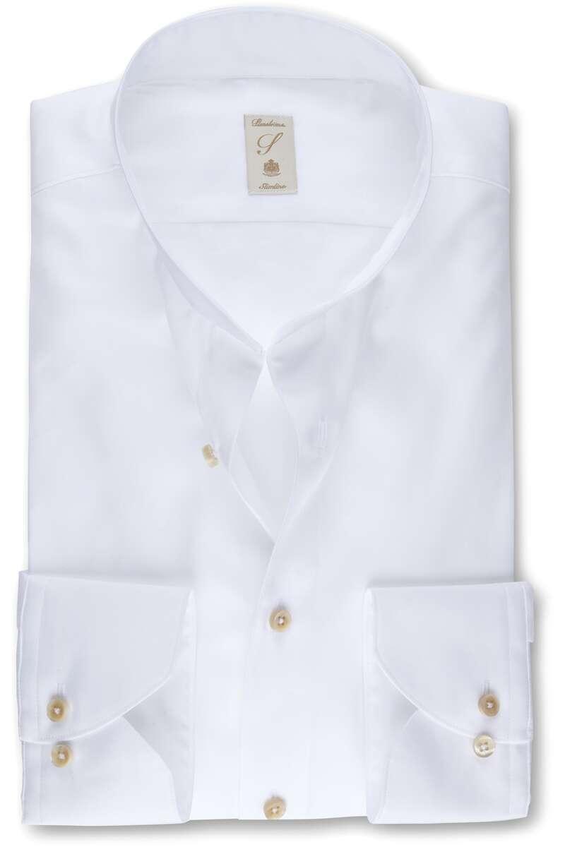 Stenströms Slimline Hemd weiss, Einfarbig 44 - XL