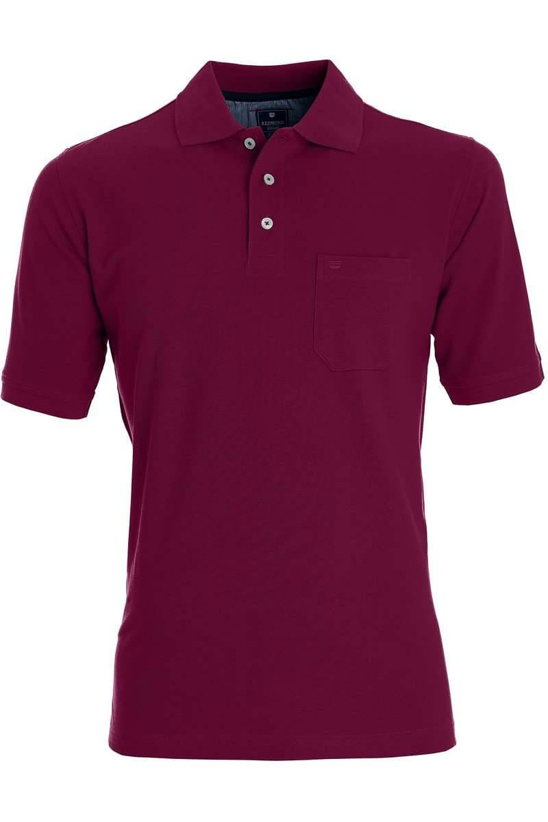 Redmond Casual Poloshirt beere, Einfarbig
